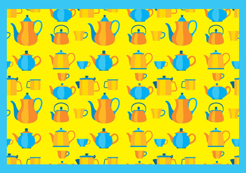 Teapot Pattern Free Vector - Kostenloses vector #418011