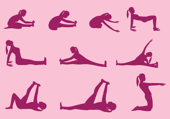 Yoga Pose Vectors - Free vector #418341