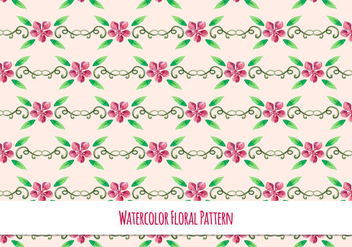 Cute Free Vector Floral Pattern - Kostenloses vector #418501