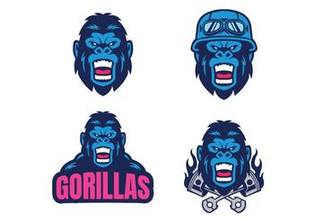 Free Gorilla Vector - vector gratuit #418551