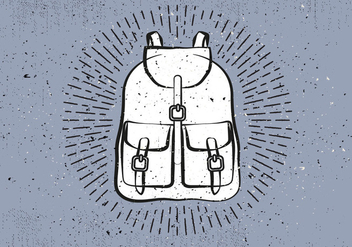 Free Hand Drawn Travel Bag Vector Background - Free vector #418681