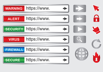 Shiny Address Bar Vector - бесплатный vector #418851