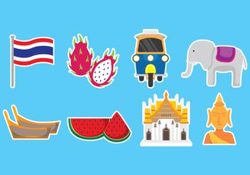 Bangkok Icons - Kostenloses vector #418981
