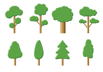Tree Icon Vector Pack - Free vector #419251