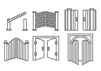 Open Gate Vector - Free vector #419341
