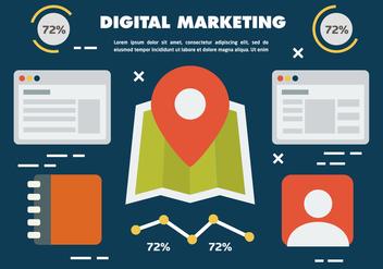 Free Digital Marketing Business Vector Illustration - Free vector #419351