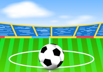 Bright Football Ground - vector gratuit #419421