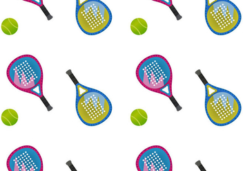 Free Padel Seamless Pattern Vector Illustration - Kostenloses vector #419431