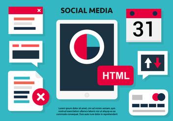 Free Social Media Vector Illustration - Kostenloses vector #419441