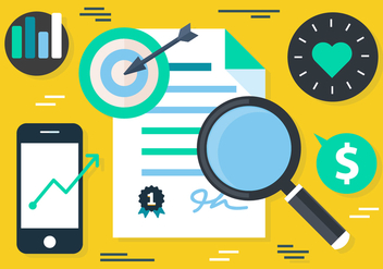 Free Flat Digital Marketing Concept Vector - Kostenloses vector #419521