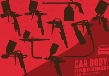 Car Body Spray Paint - Free vector #419551