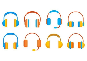 Free Head Phone Vector Icons Vectpr - Free vector #419721