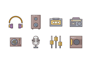 Free Music Icons - vector #419751 gratis