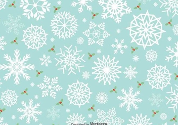 Minimal Snowflakes Vector Pattern - Free vector #419961