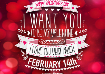 Beautiful Valentine's Day Template - Vector - Kostenloses vector #419971