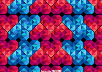 Vector Polygonal Hearts Seamless Pattern - Free vector #419981