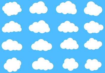 Free Vector Clouds Set - Kostenloses vector #420011