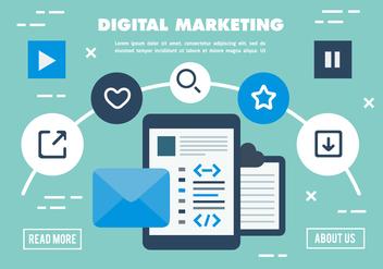 Free Digital Marketing Business Vector Illustration - Kostenloses vector #420201