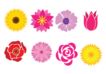 Flower Icon Vector - Free vector #420221