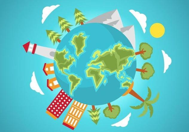 Free Globe Vector Illustration - Free vector #420261