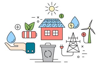 Free Eco Energy Icons - Kostenloses vector #420321