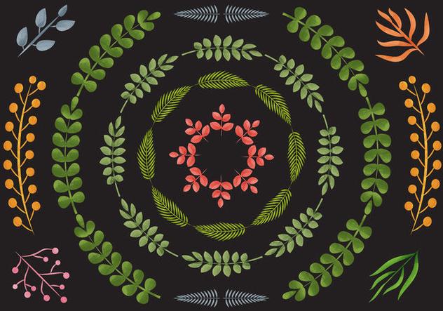 Liana Border Watercolor Vectors - Free vector #420361