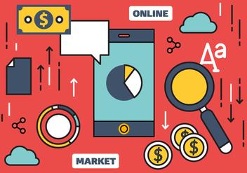 Free Online Marketing Vector Illustration - Free vector #420431