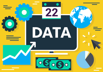 Free Flat Digital Marketing Concept Vector - Kostenloses vector #420441