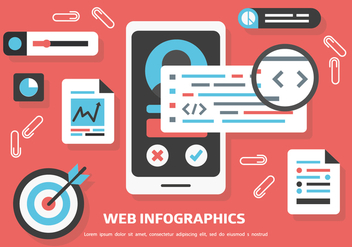 Free Web Inforgaphics Vector Background - Free vector #420481