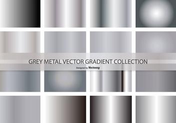 Metal Grey Vector Gradient Collection - Kostenloses vector #420551