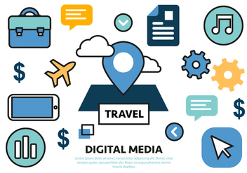 Free Flat Digital Marketing Concept Vector - Kostenloses vector #420571
