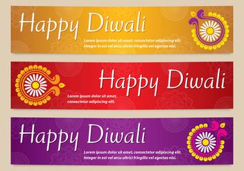 Bright Diwali Banners Vectors - бесплатный vector #420871