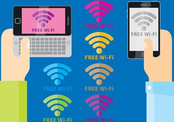 Free Wi-Fi Symbol Vectors - Free vector #420911