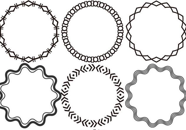 Round Decorative Vector Frames - Free vector #421001