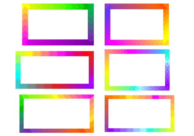 Rainbow Funky Frames Free Vector - бесплатный vector #421031