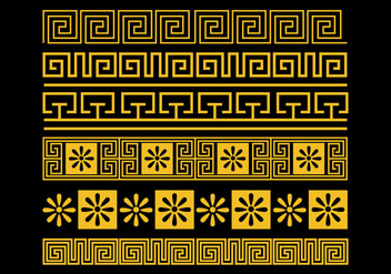 Greek Key Vector Set - Free vector #421101