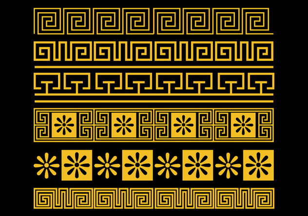 Greek Key Vector Set - Free vector #421101