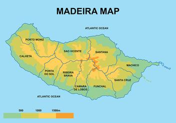 Madeira Maps Vector - Free vector #421141