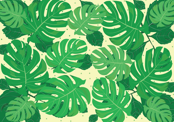 Green Jungle Leaves Background - vector #421321 gratis