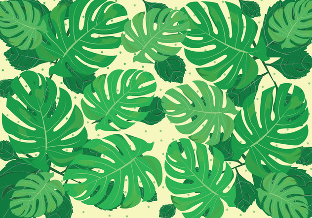 Green Jungle Leaves Background - Free vector #421321