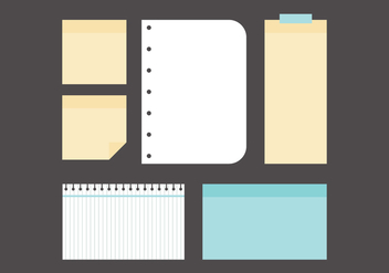 Set of Post-its And Memo Notes - vector gratuit #421351