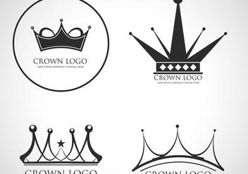 Crown logo vector - Free vector #421541