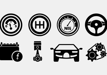 Set Of Auto Body Icons - vector #421591 gratis