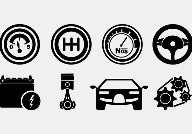 Set Of Auto Body Icons - Kostenloses vector #421591
