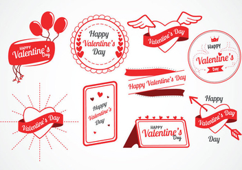 Valentine's Day Vector Labels - vector gratuit #421681