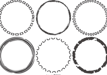 Funky Sketchy Round Frames - Free vector #421761
