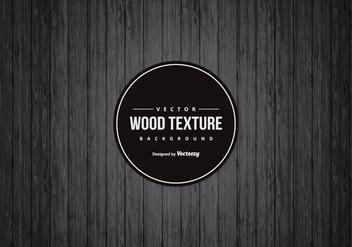 Drak Black Wood Background - Free vector #421841