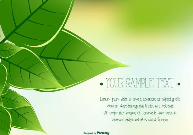 Green Leaf Background - Free vector #421851