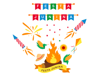 Festa Junina Poster Design - Free vector #422031