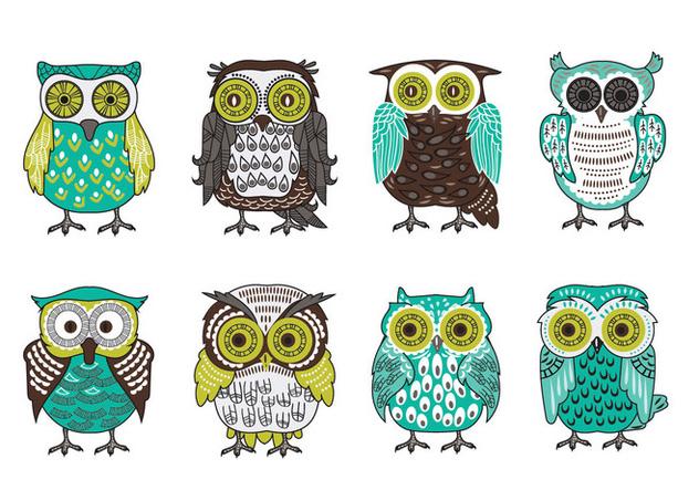 Scandinavian Buho or Owls Vector Collection - Free vector #422061